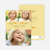 Carrot Themed Easter Photo Cards - Yellow
