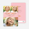 Carrot Themed Easter Photo Cards - Pink