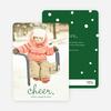 Cheer, Cheerful Holiday Photo Cards - Green