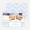 Chevron Stripes Baby Announcements - Blue