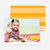 Colorful Easter Band Photo Cards - Orange
