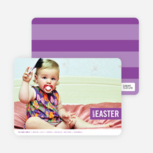 Colorful Easter Band Photo Cards - Purple