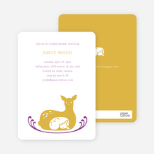 Deer Mom Deer Themed Baby Shower Invitations - Yellow