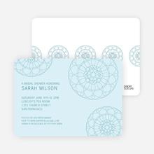 Floral Wedding Shower Invitations - Blue