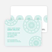 Floral Wedding Shower Invitations - Green