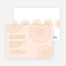 Floral Wedding Shower Invitations - Pink