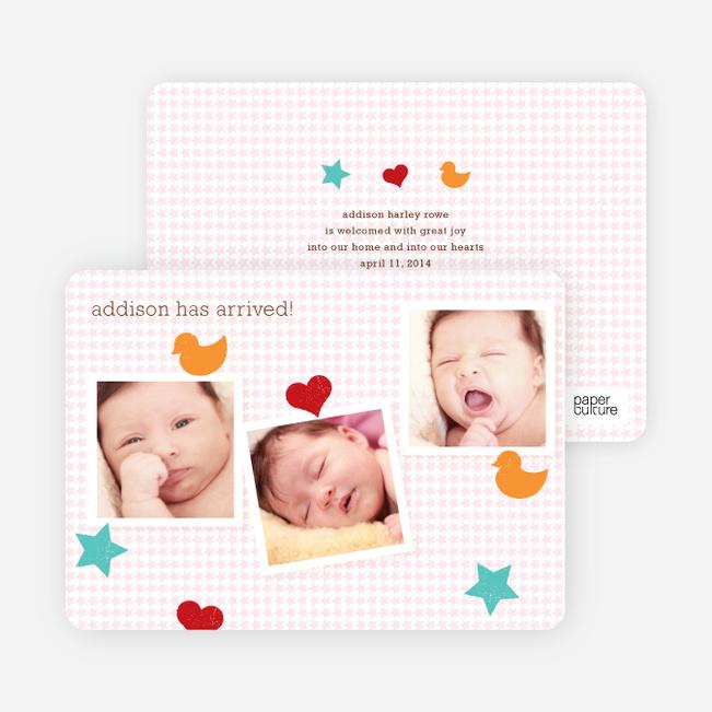 Birth Announcements: Fun Sticker - Pink