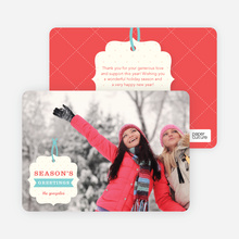 Gift Tag Holiday Cards - Red