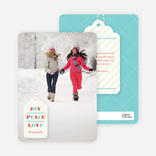 Gift Tag Holiday Cards - Blue