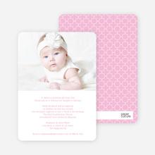 God's Gift Baptism Invitations - Pink