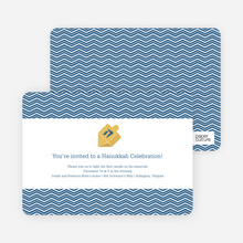 Hanukkah Celebration Invitations - Blue