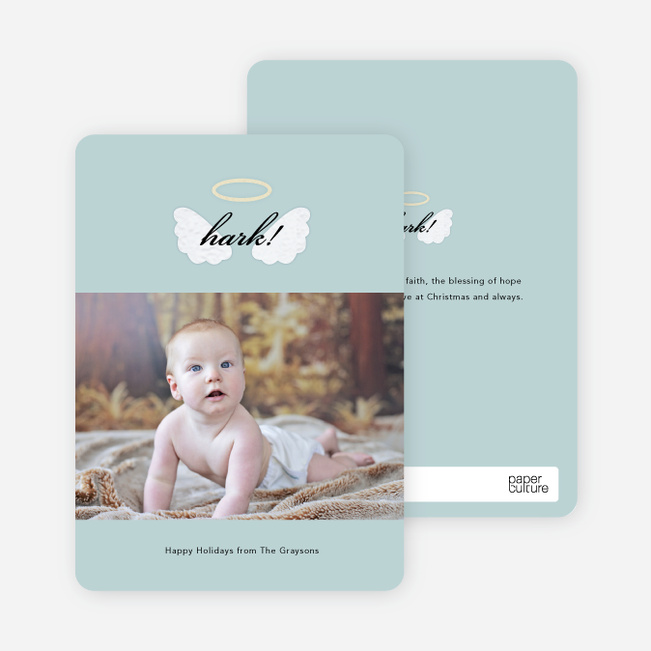 His Blessings of Hope and Peace Christmas Cards - Blue
