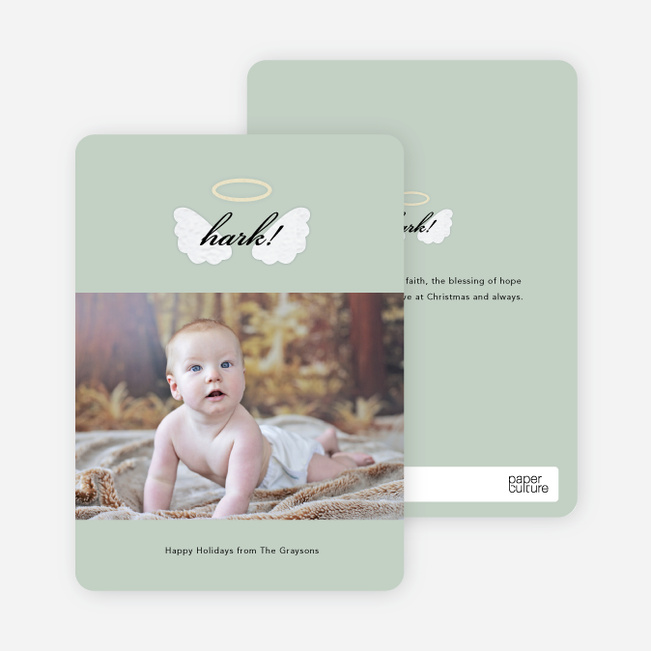 His Blessings of Hope and Peace Christmas Cards - Green