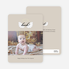 His Blessings of Hope and Peace Christmas Cards - Beige