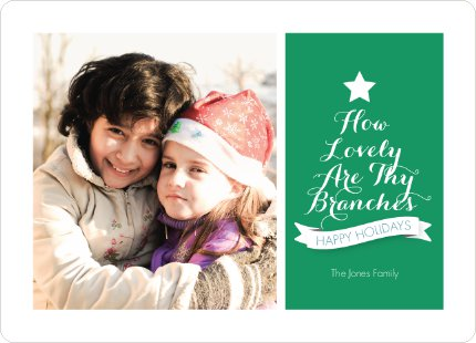 How Lovely Are Thy Branches Christmas Card - Green