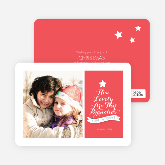How Lovely Are Thy Branches Christmas Card - Pink