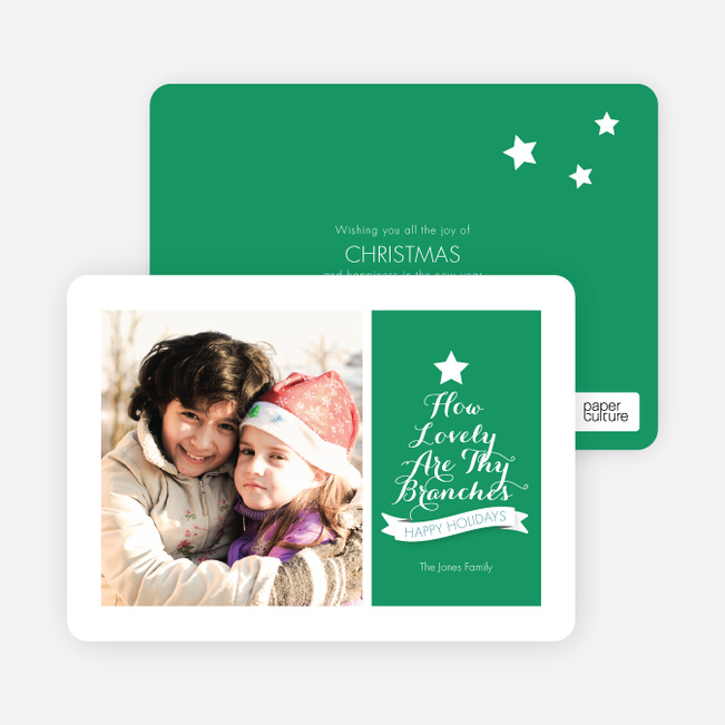 Christmas Cards: How Lovely Are Thy Branches - Green