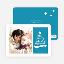 How Lovely Are Thy Branches Christmas Card - Blue