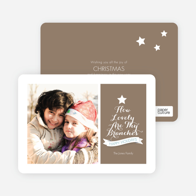 How Lovely Are Thy Branches Christmas Card - Brown