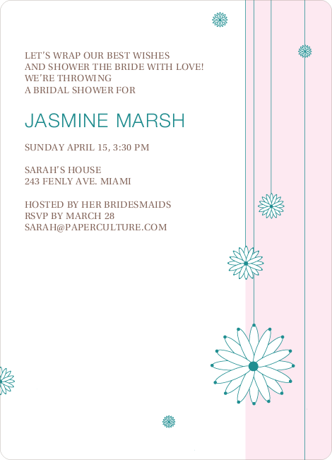 Bridal Tea Shower Invitations - Pink