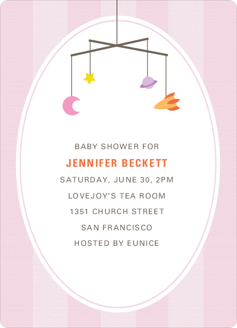 Astronaut and Space Traveler Baby Shower Invitations - Pink
