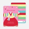 Korean Dol First Birthday Invitations - Pink