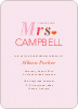 The Future Mrs. Bridal Shower Invitations - Pink