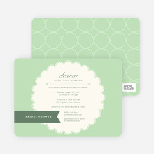 Lace Doily Bridal Sower Invitations - Green