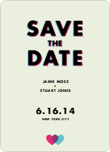 3D Save the Date - Green