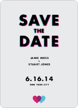 3D Save the Date - Grey