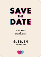 3D Save the Date - Orange
