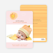 Little Miss Sunshine Photo Baby Announcements - Pink