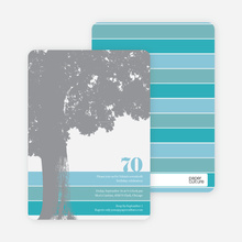 Loving Trees and Nature Birthday Party Invitations - Blue