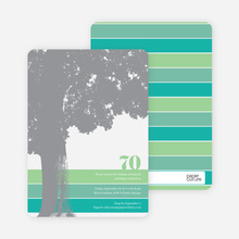 Loving Trees and Nature Birthday Party Invitations - Green