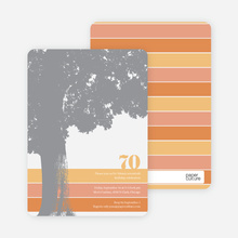 Loving Trees and Nature Birthday Party Invitations - Orange