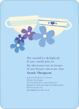 Casual Tea Bridal Shower Invitations - Orange