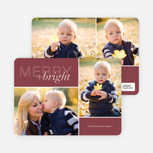 Merry and Bright Holiday Cards - Red