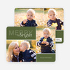 Modern Christmas Cards: Merry & Bright - Green