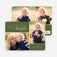 Merry and Bright Holiday Cards - Green