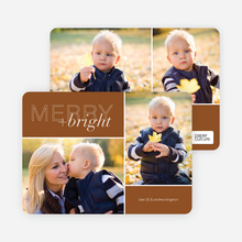 Merry and Bright Holiday Cards - Brown
