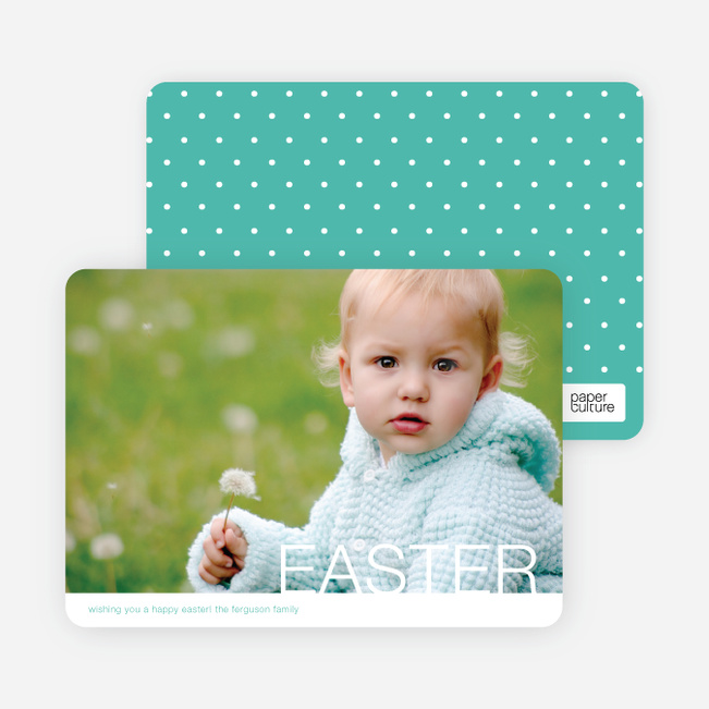 Modern and Minimalist Easter Photo Cards - Blue