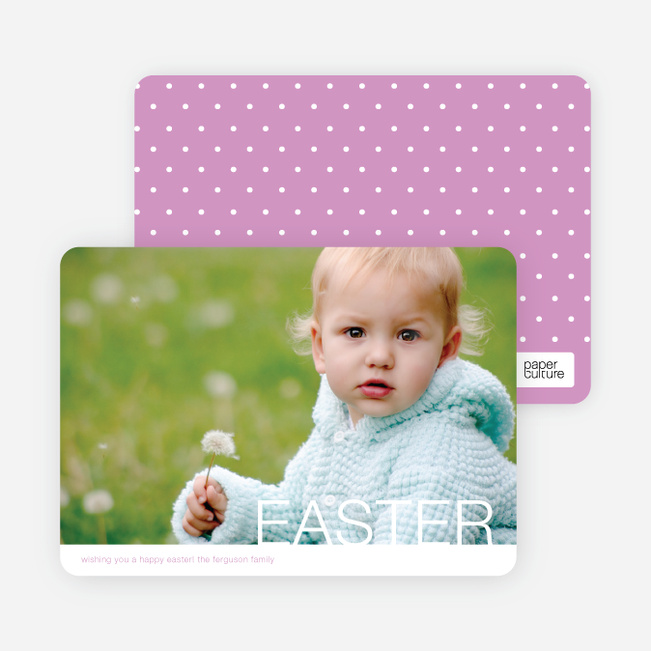 Modern and Minimalist Easter Photo Cards - Purple