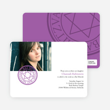 Modern Bar and Bat Mitzvah Invitations - Purple