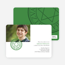 Modern Bar and Bat Mitzvah Invitations - Green