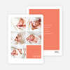 Modern Birth Announcements with Slots for 5 Photos - Orange