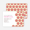 Modern Dol Flowers Invitations - Red