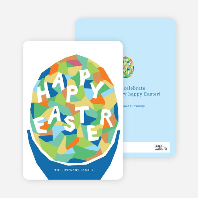 Modern Easter Egg Cards - Green