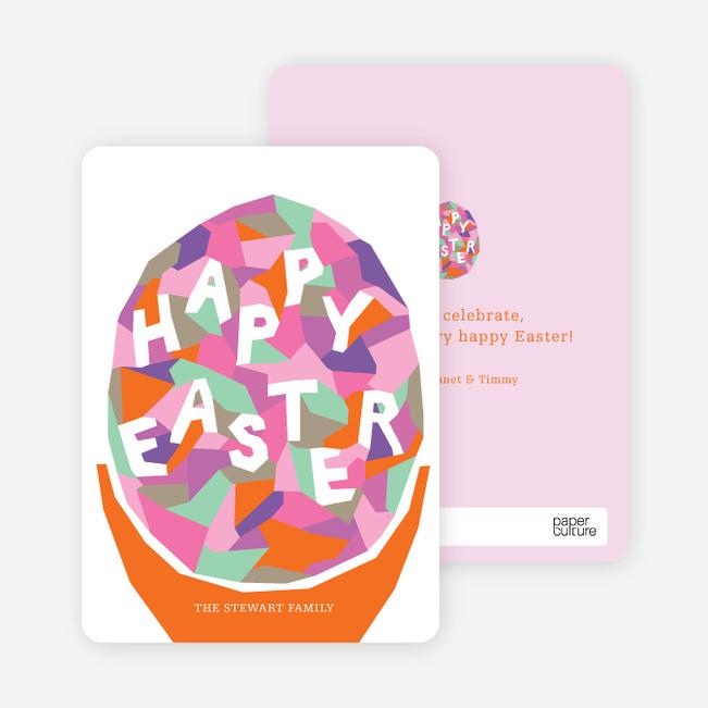Modern Easter Egg Cards - Pink