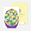 Modern Easter Egg Cards - Purple