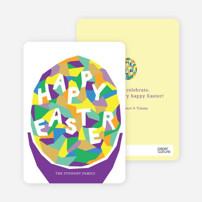 Modern Easter Egg Cards - Purple